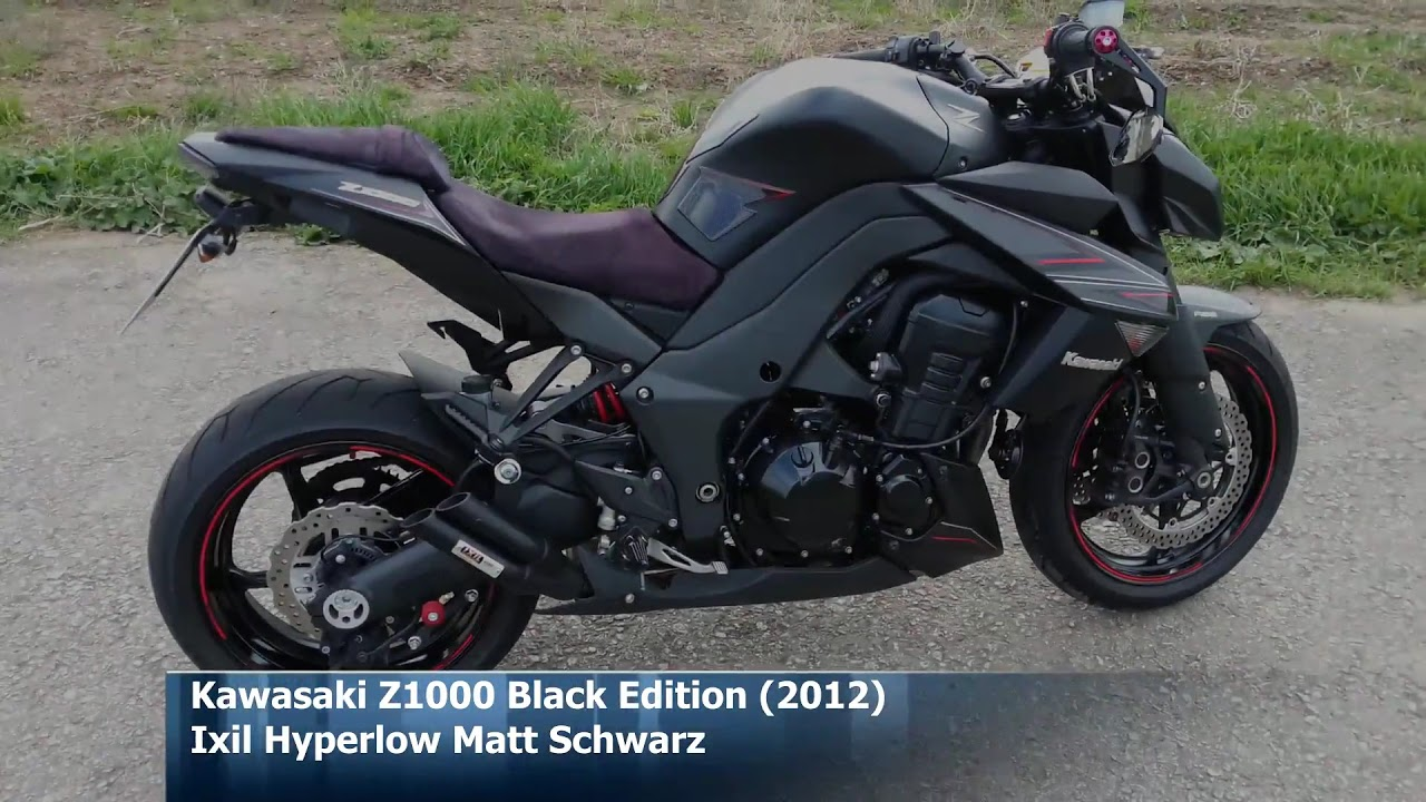 Kawasaki Z1000 Black Edition With Ixil Hyperlow Matt