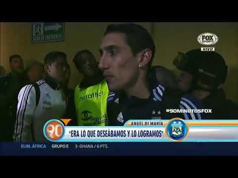 Palabras de Ángel Di María post Ecuador 1-3 Argentina