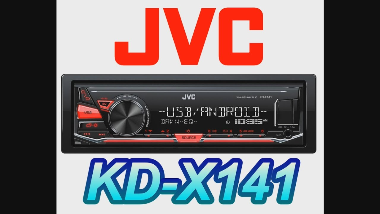 jvc kenwood kd x241 kd x141 unboxing box opening review car install rh youtube com