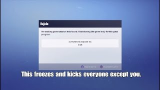 NEW Fortnite Save The World Scam Glitch! Freeze Players!