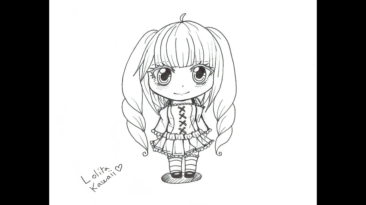 Comment dessiner un chibi fille youtube - Dessin manga kawaii ...
