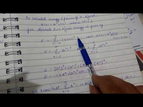 To calculate energy of a discrete time signal