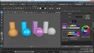 Understanding the basic shader types | Maya 2018 Essential Training from LinkedIn Learning