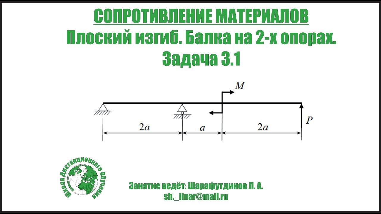 Решение задач изгиб сопротивление материалов решение текстовых задач программа 4 класс