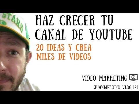 20 IDEAS PARA CREAR MILES DE VIDEOS EN YOUTUBE (y hacer crecer tu canal de YouTube)