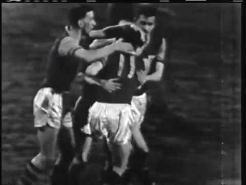 ECCC 1960-61. Quarter-finals. Burnley FC - Hamburger SV - 3:1. Highlights.