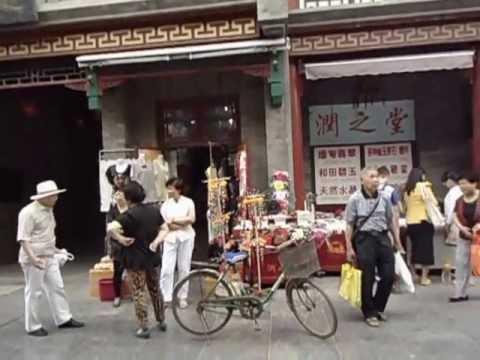 Aruna & Hari Sharma enjoying Chinese Cultural Street Visit, Tianjin June 04, 2013