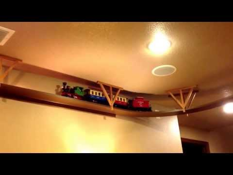 "Ceiling mounted ""G"" scale train"