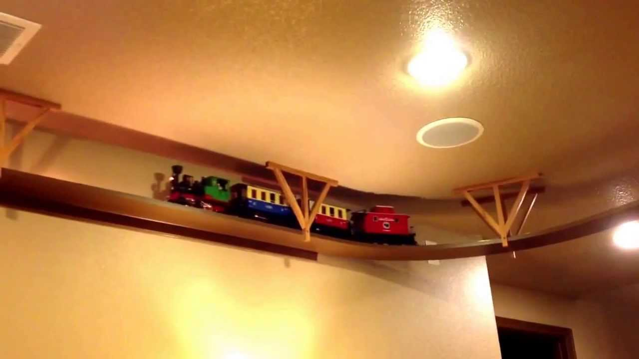 "Ceiling mounted ""G"" scale train - YouTube for Train Ceiling Light  53kxo"