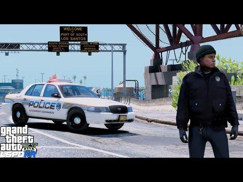 GTA 5 LSPDFR Police Mod #588  Los Santos Police Waterfront Commission Port Police