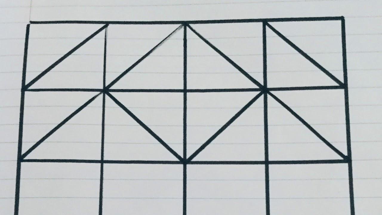 زخرفة هندسية بالمربعات سهلة