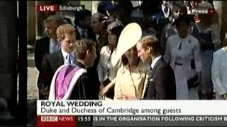 Royal Wedding: Zara Phillips Weds Mike Tindall - part 2