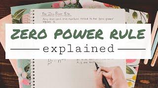 ZERO POWER RULE EXPLAINED + what is zero to the zero power? | Math Hacks