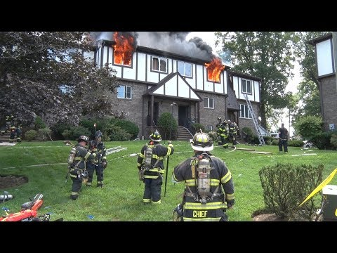 New Milford,NJ Fire Department Multiple Alarm Fire 7/29/18