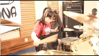 Crazy Drumming Skills! JUNNA Through The Fire And Flames / DragonForce - Drum Cover