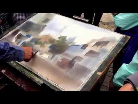楊治瑋老師示範一. Watercolor Demonstration By Yang Zhi Wei Watercolor Artist