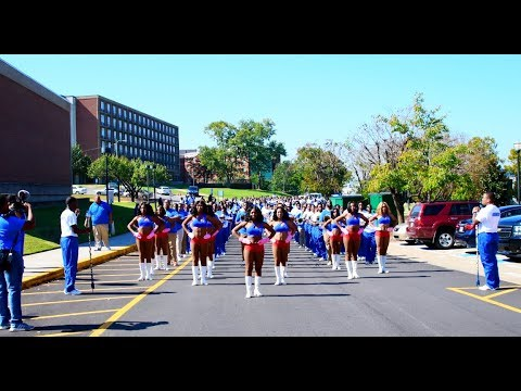 Tennessee State University Marching Band - Marching to the Stadium - 2017 #HOMECOMING