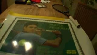 Roger Federer Stamp - The Poster Presentation on Video