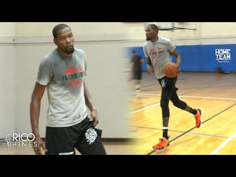 Kevin Durant Workout & Full Court 2 On 2 With Rico Hines! Trevor Ariza, Bobby Brown, Kevon Looney