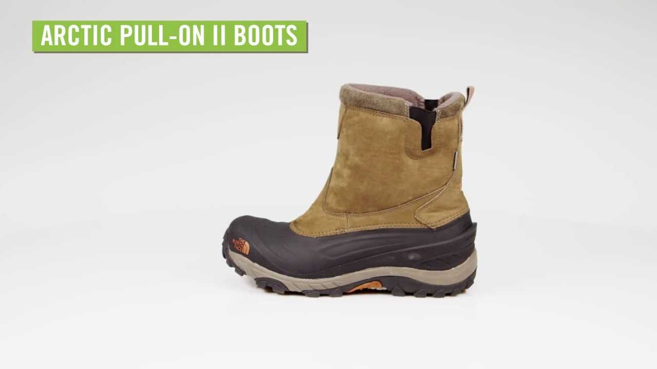 the north face men 39 s arctic pull on ii boots youtube. Black Bedroom Furniture Sets. Home Design Ideas