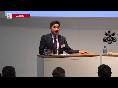 Swiss Centers China CEO Zhen Xiao gives keynote at our Zurich Forum