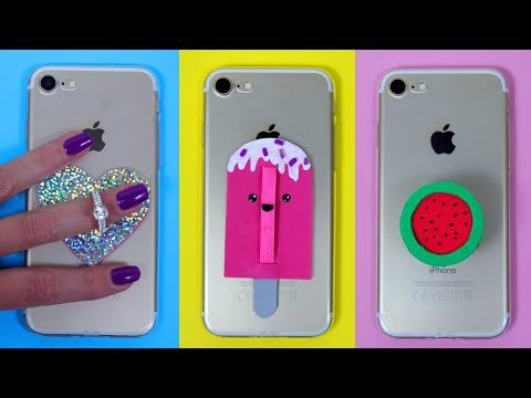 DIY PHONE POPSOCKETS! Easy Phone Case Decorations / DIY PHONE GRIPS