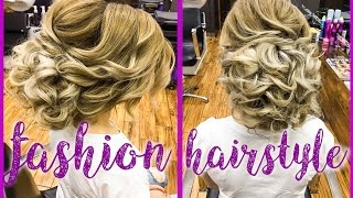 СВАДЕБНАЯ ПРИЧЁСКА ЗА 5 МИНУТ hairstyle wedding 5-Minute SIDE BUN Hairstyle ★ EASY Summer HAIRSTYLES