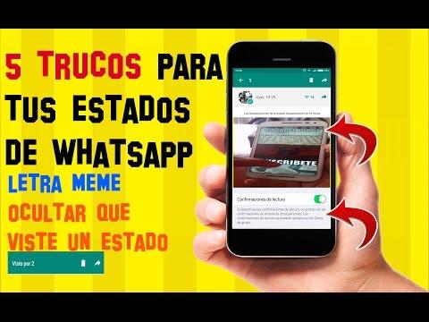 5 TRUCOS para los NUEVOS ESTADOS de Whatsapp que SEGURO no conocias | Texto tipo MEME |