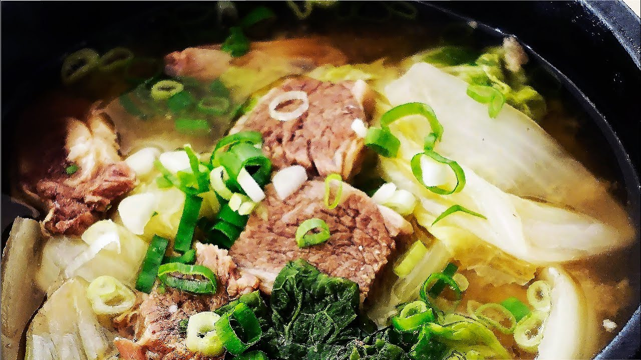 大白菜牛排大醬湯 | 우거지갈비탕 | 韓式牛排湯 | 牛肋排大醬湯 - YouTube