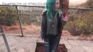 bea miller wake me up video with lyrics