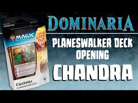 "MTG - Dominaria: Chandra ""Bold Pyromancer"" Planeswalker Deck Opening"