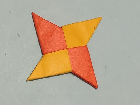 Art and craft,Craft with paper,paper art and craft, paper work, ninja star