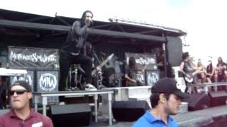 Motionless In White - We Only Come Out At Night Part 1 - Vans Warped Tour 2012 Uniondale, NY