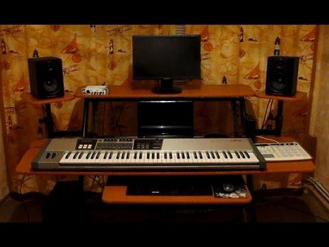 MY NEW STUDIO DESK 2015 fame w201 studio workstation