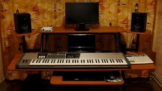 MY NEW STUDIO DESK 2015 fame w-201 studio workstation