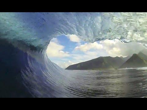 GoPro Perfect Teahupoo Tahiti Barrels with Trevor Sven Carlson - Surf Channel