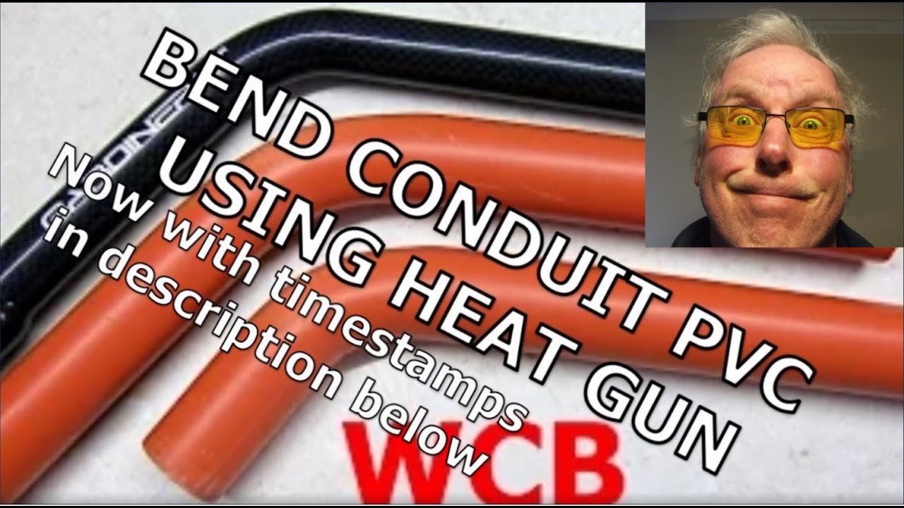 Bend conduit pvc quick using heat gun plus spring that s