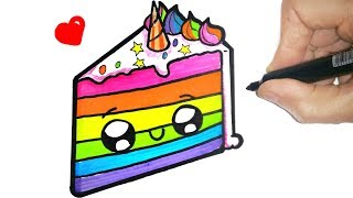 HOW TO DRAW A CUTE CAKE