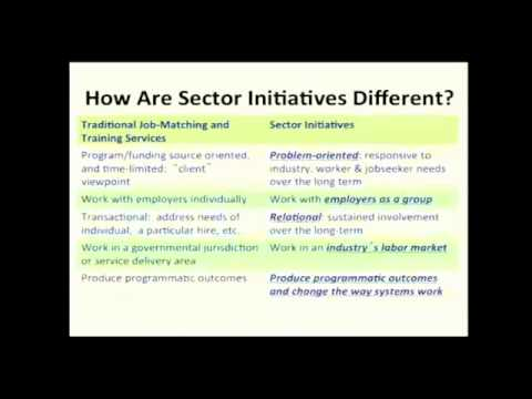 Sector Strategies Academy- Panel 1: Overview