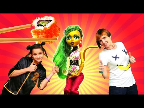 #МОНСТЕР хай и Маша (#капукикануки) в Китае. Видео для девочек и #куклы. Дженифер ЛОНГ на TUBE GIRLS