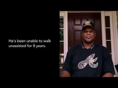 Disabled veteran learns to walk again