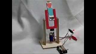 ボルト電磁石の2重振り子(押しマグR2)