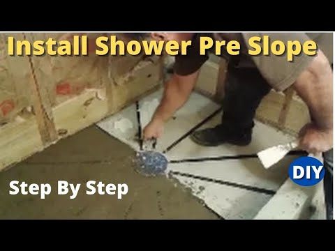 How To Install Shower Pre Slope Step By Step Diy The Easy