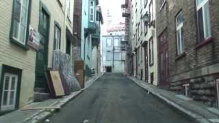 NARROW STREETS OF QUEBEC CITY, CANADA