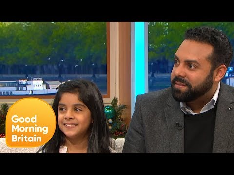 8-Year-Old Sophia and Father Asif on the Support From Charity Grief Encounter  Good Morning Britain