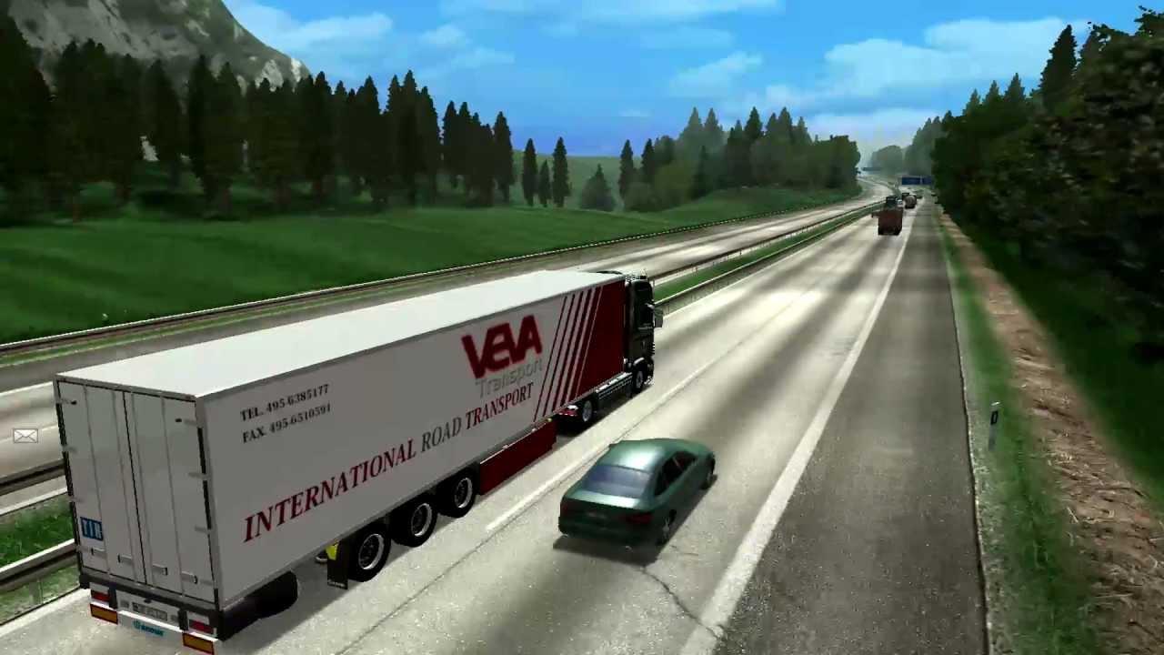 german truck simulator frankfurt am main mainland part 1 youtube. Black Bedroom Furniture Sets. Home Design Ideas