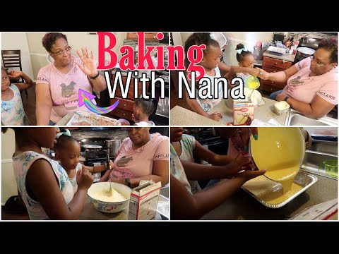 Baking A DELICIOUS Chocolate Cake With Nana
