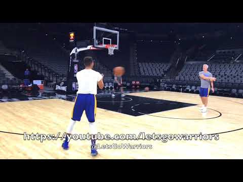 Thumbnail: Steph Curry and Kevin Durant shooting after Golden State Warriors (5-3) practice, day before Spurs
