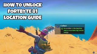 How To Unlock Fortbyte 81 Location Guide | Fortnite Season 9 Challenges