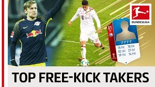 Top 10 Free-Kick Takers World Cup 2018 - EA SPORTS FIFA 18 - James, Forsberg & More